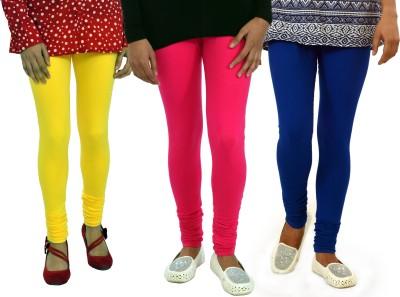 Femninora Women's Yellow, Pink, Blue Leggings