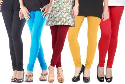 Rashi Women's Black, Light Blue, Maroon, Yellow, Red Leggings