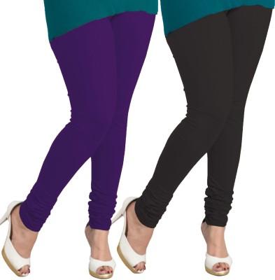 I-Diva Women's Purple, Black Leggings