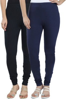 Fexy Women's Black, Blue Leggings