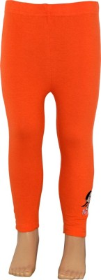 Chhota Bheem Girl's Orange Leggings