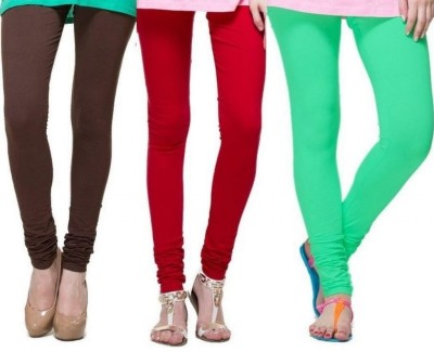 Zadine Women's Brown, Red, Green Leggings