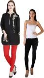 MDR Women's Black, Red Leggings (Pack of...