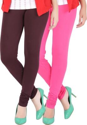 Dansik Women's Maroon, Pink Leggings