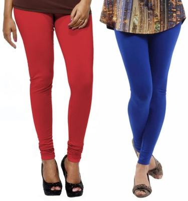 VP Vill Parko Women's Red, Blue Leggings