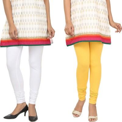 Agrima Fashion Women's White, Yellow Leggings