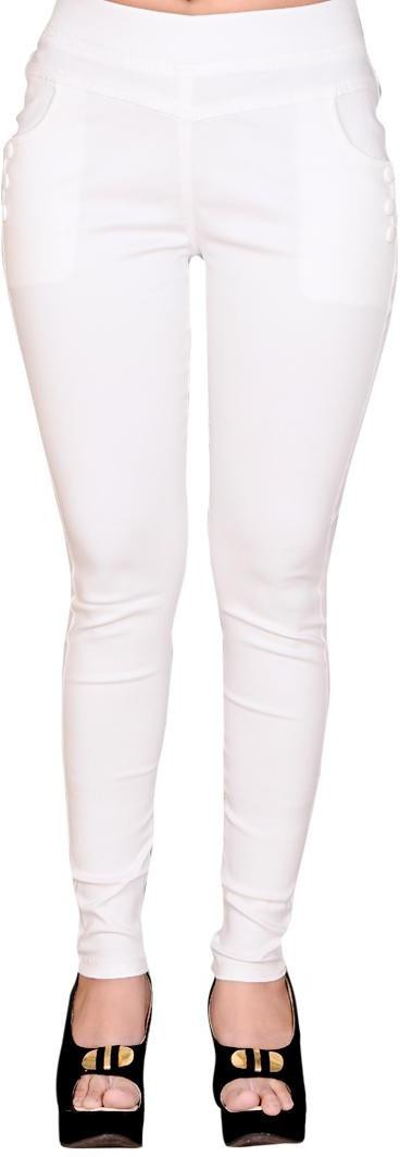 LGC Womens White Jeggings