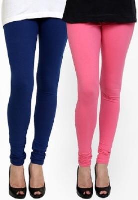 Lasunj Women's Blue, Pink Leggings