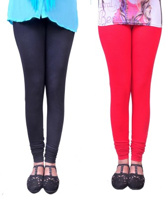 Anubhaviya Women's Black, Red Leggings