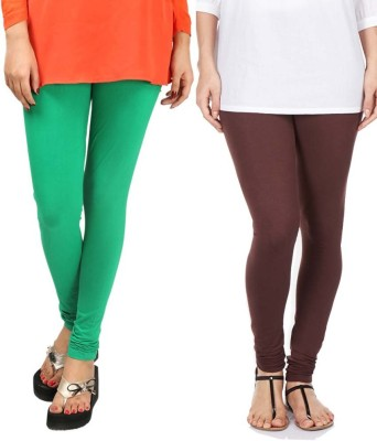 Sampoorna Collection Women's Brown, Green Leggings