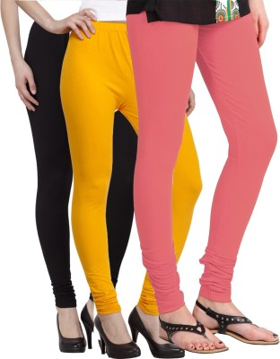 VENUSTAS Women's Black, Yellow, Pink Leggings