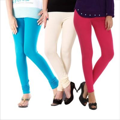 Melisa Women's Blue, White, Pink Leggings