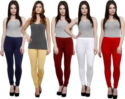 Pistaa Women's Dark Blue, Beige, Maroon, White, Red Leggings