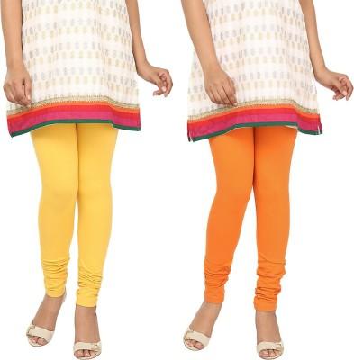Agrima Fashion Women's Yellow, Orange Leggings