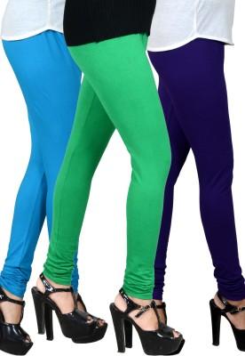 jsa Women's Light Blue, Green, Blue Leggings