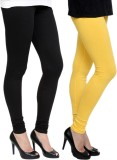 Pannkh Women's Black, Yellow Leggings (P...