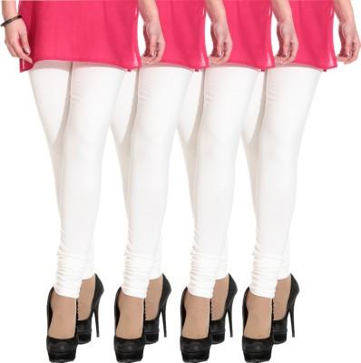 Escocer Women's White Leggings
