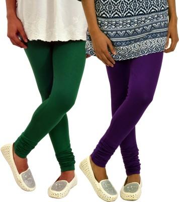 Femninora Women's Purple, Green Leggings