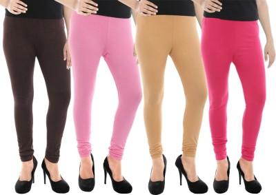 Paulzi Women's Brown, Pink, Beige, Pink Leggings