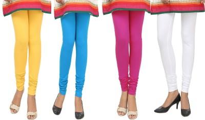 Agrima Fashion Women's Yellow, Light Blue, Pink, White Leggings