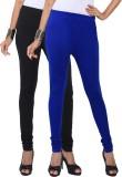 Fascino Women's Black, Blue Leggings (Pa...