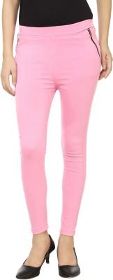 Lambency Women's Pink Jeggings