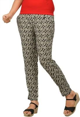 Optionsdesign Women's Black, Beige Leggings