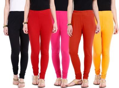 Ten on Ten Women's Pink, Orange, Red, Black, Yellow Leggings
