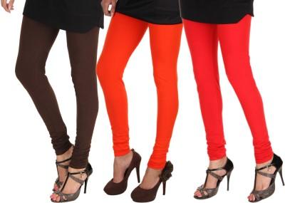 Itnol International Women's Brown, Orange, Red Leggings