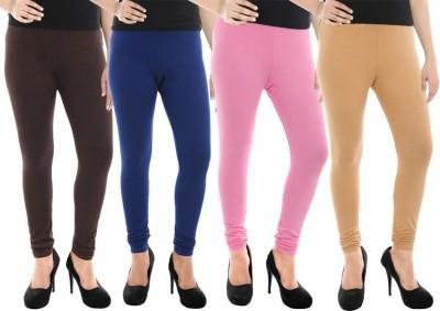 Paulzi Women's Brown, Blue, Pink, Beige Leggings