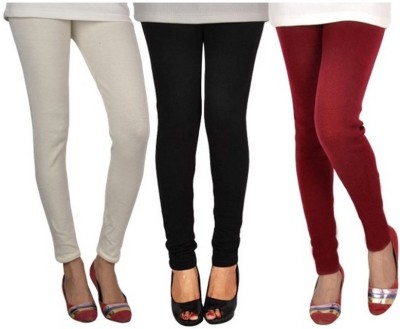 Mount Beauty Women's White, Black, Maroon Leggings