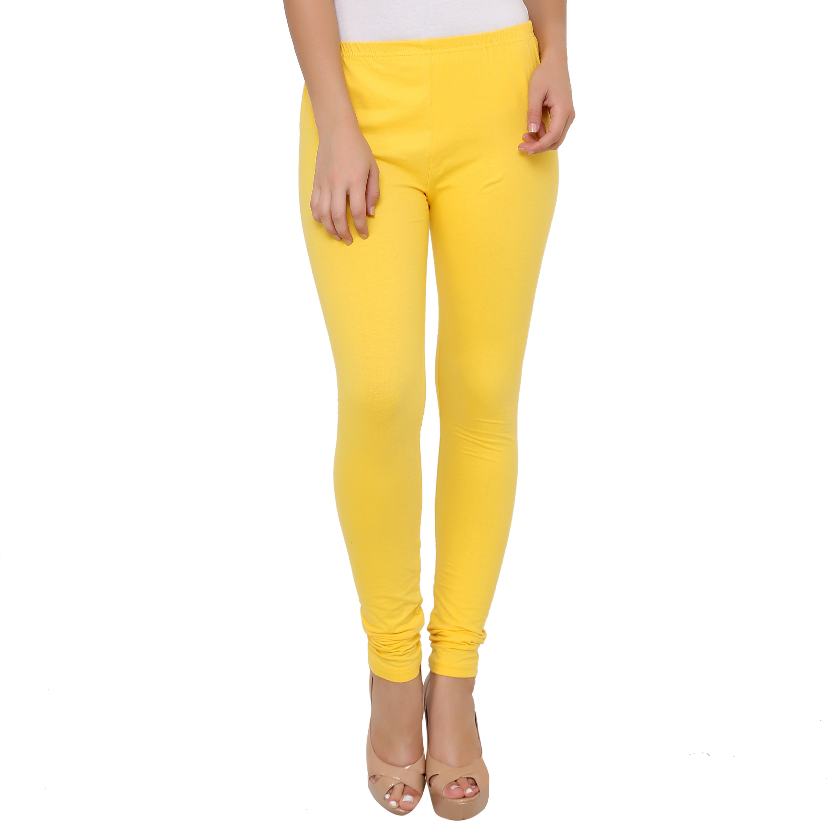 Leebonee Womens Yellow Leggings