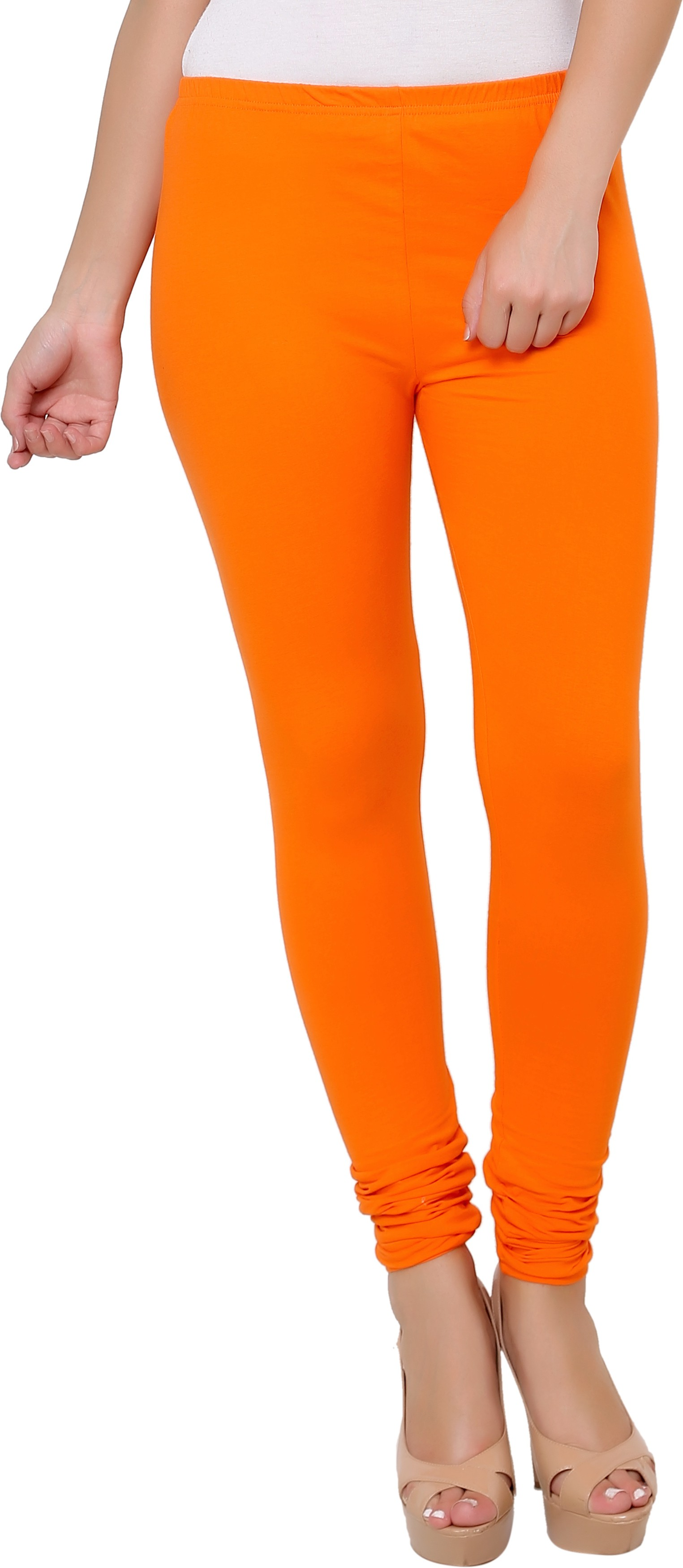 Leebonee Womens Orange Leggings