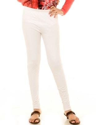 Menthol Girl's White Leggings