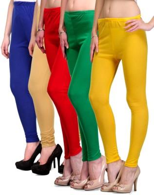 Rowena Women's Blue, Beige, Red, Green, Yellow Leggings