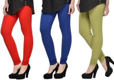 SareeGalaxy Women's Red, Blue, Light Green Leggings