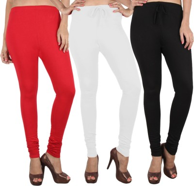Danbro Women's White, Black, Red Leggings