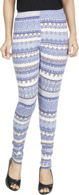 Anekaant Womens Blue, Multicolor Leggings