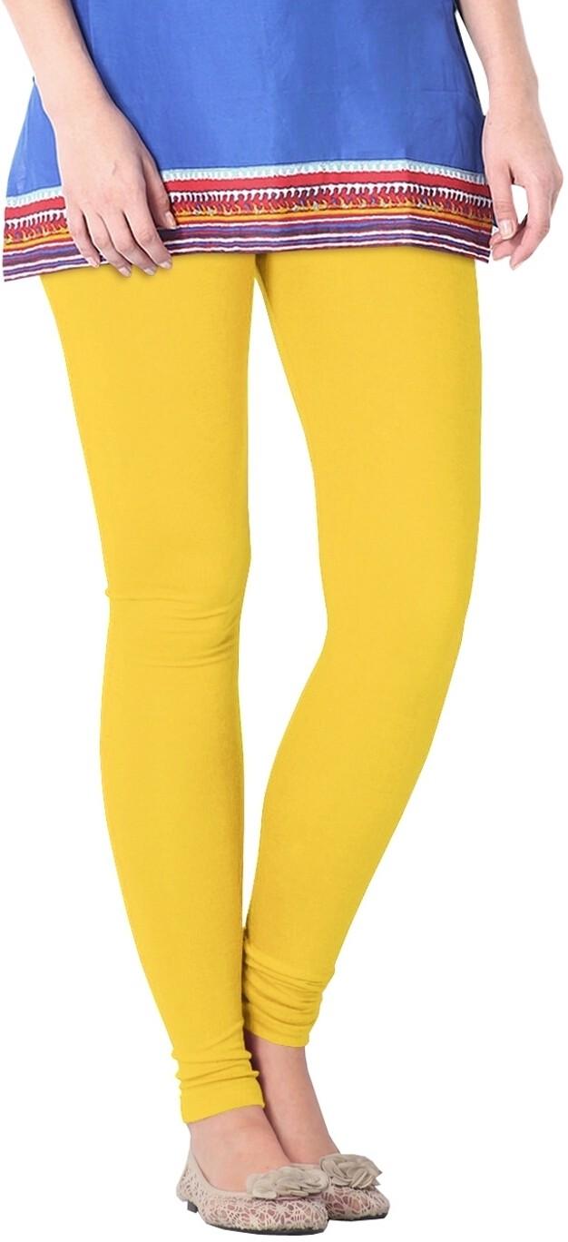 Nice Fit Womens Yellow Leggings