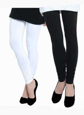 Uzee Women's White, Black Leggings