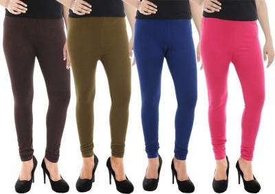 Paulzi Women's Brown, Green, Blue, Pink Leggings
