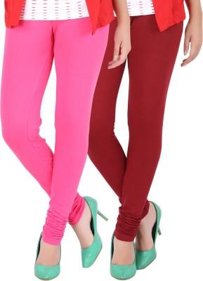 Dansik Women's Pink, Red Leggings