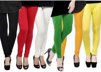 Fashion Zilla Women's Black, Red, White, Light Green, Orange, Yellow Leggings