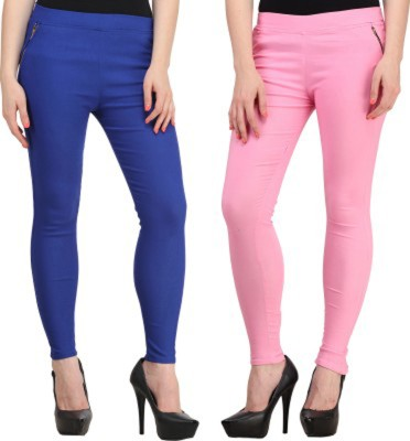 Roma Creation Women's Blue, Pink Jeggings