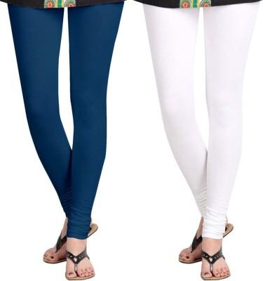 Roshni Creations Women,s White, Blue Leggings