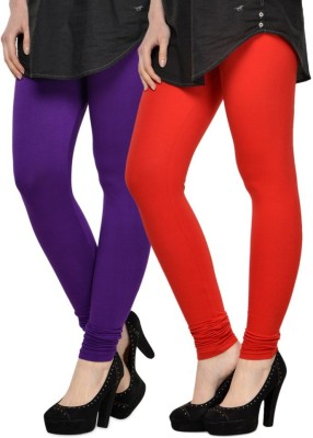 Aana Women's Red, Purple Leggings
