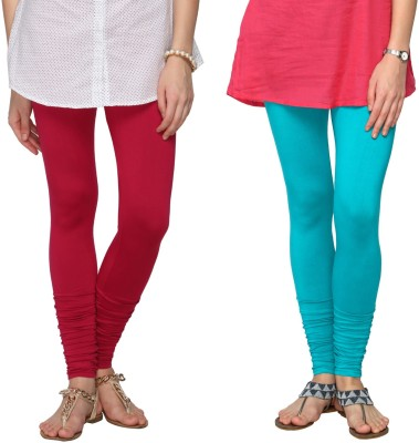 Fashionjackpot Women's Pink, Light Blue Leggings