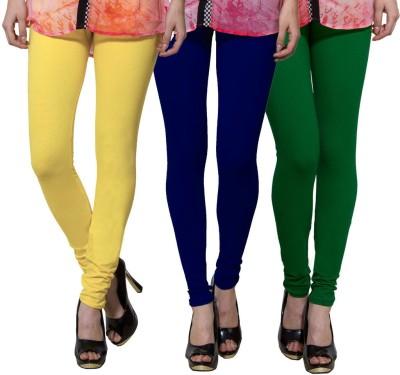 Both11 Women's Yellow, Blue, Dark Green Leggings