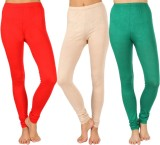 SLS Women's Red, Beige, Green Leggings (...