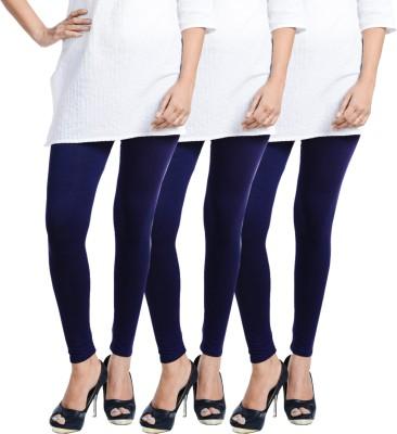 Escocer Women's Blue Leggings